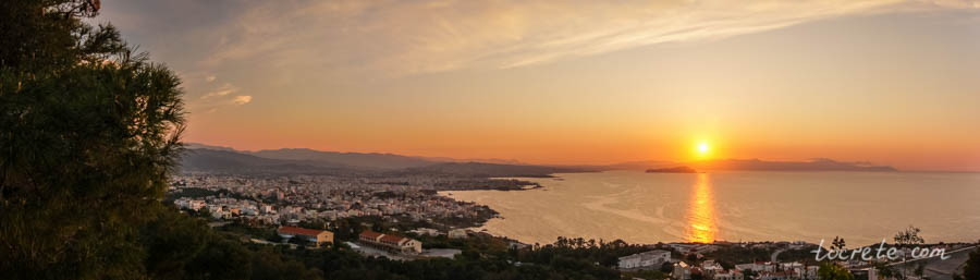 Закат в Ханье с холма Венизелоса (Sunset in Chania from Venizelos hill)